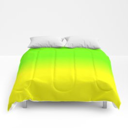 Neon Green and Neon Yellow Ombré  Shade Color Fade Comforters