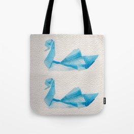 Origami-Swan Tote Bag