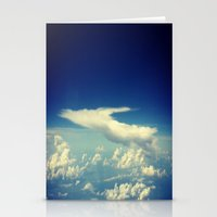 cloud Stationery Cards featuring  Cloud by Sumii Haleem