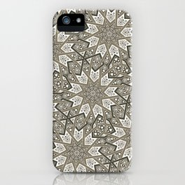 Nine Fold patter in beige iPhone Case