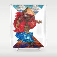 illuminati Shower Curtains featuring Kimye Illuminati Bugatti by Occasional Superstar