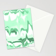 Marbled in emerald Stationery Cards