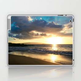 Poolenalena Beach Sunset Makena Maui Hawaii Laptop & iPad Skin