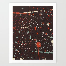 Retro CityLights Art Print