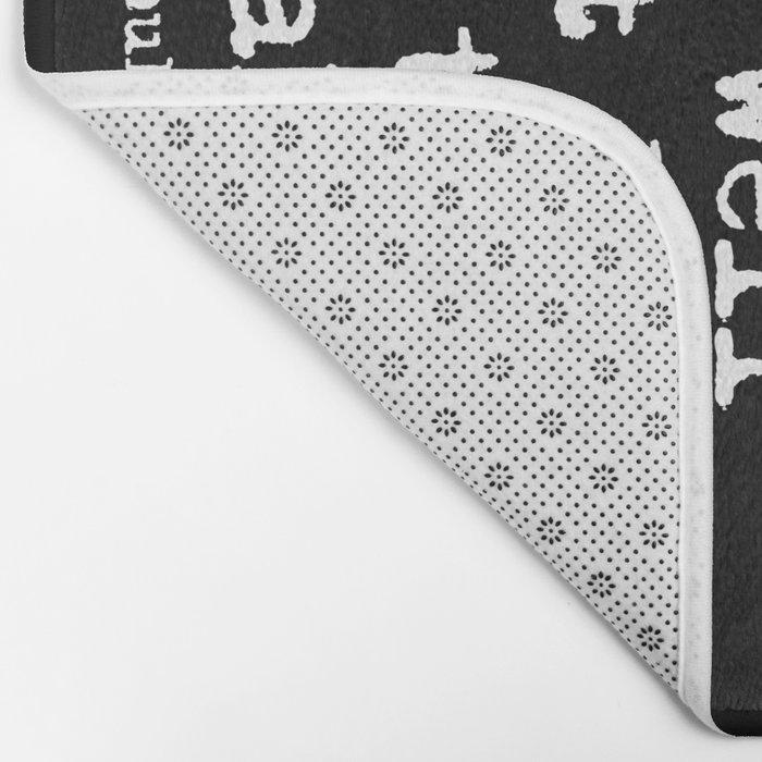 Charles Bukowski Typewriter White Font Quote Laugh Bath Mat