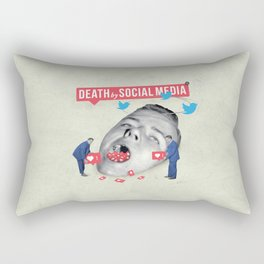Death by Social Media Rectangular Pillow