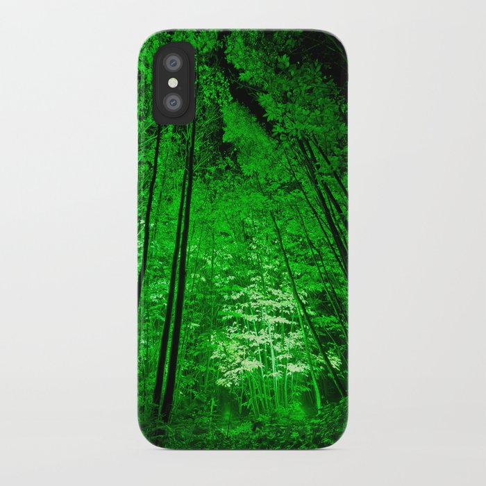 Electric Forest Green iPhone Case