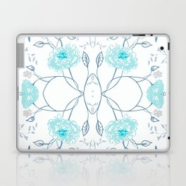 Shade of blue floral pattern Laptop & iPad Skin