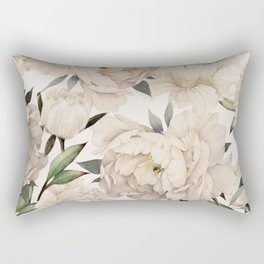 Peonies Pattern Rectangular Pillow