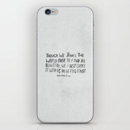 Ralph Waldo Emerson: Beautiful iPhone Skin