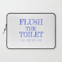 Flush the Toilet Printable,Bathroom Decor,Bathroom Print Laptop Sleeve