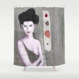 De cara a la pared Shower Curtain