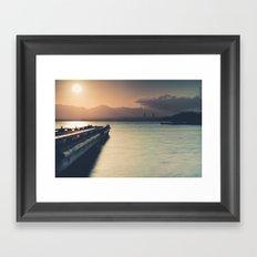 Summertime Feeling (Dock Sunset) Framed Art Print