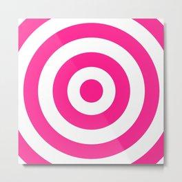 Target (Dark Pink & White Pattern) Metal Print