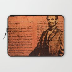 Abraham Lincoln and the Gettysburg Address Laptop Sleeve