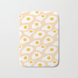 Eggs pattern on pink Bath Mat