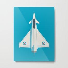 Eurofighter Typhoon RAF Jet Fighter Aircraft - Blue Metal Print