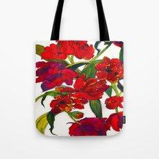 Inky Tulips Tote Bag