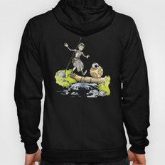 Calvin and Hobbes/Crossover Bb8 and Rey Hoody