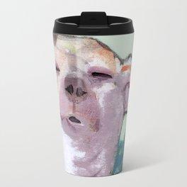 Dog in Wind Travel Mug