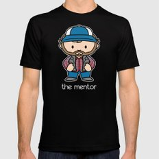 The Mentor MEDIUM Black Mens Fitted Tee