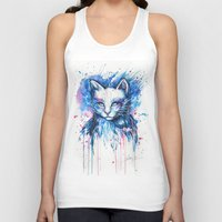 "space cat Tank Tops featuring ""Space cat"" by PeeGeeArts"