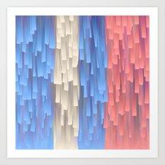 Fringe (Blue) Art Print