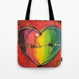 Colorful love Tote Bag