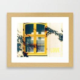 Love Window Framed Art Print