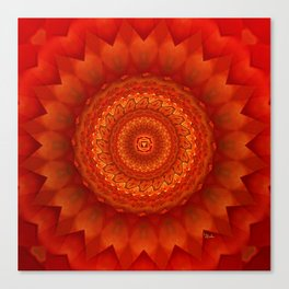 Muladhara chakra mandala Canvas Print