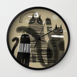 THREE + ONE Wall Clock