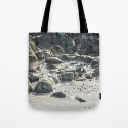 Ice Beach Winter Island Salem MA Tote Bag