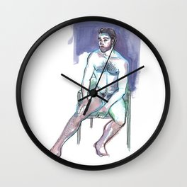 ROBBY, Nude Male by Frank-Joseph Wall Clock