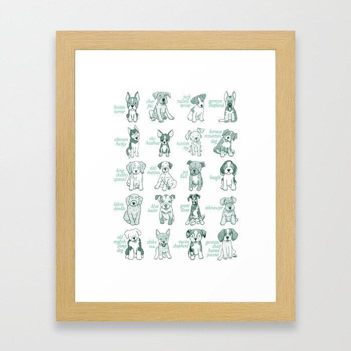 Dogs, Dogs, Dogs Framed Art Print