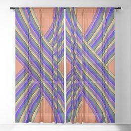 X Marks the Spot Sheer Curtain
