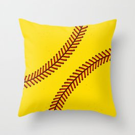 Fast Pitch Softball Throw Pillow