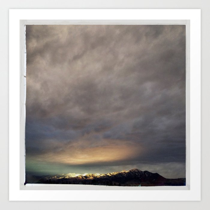 bridgers and clouds Art Print