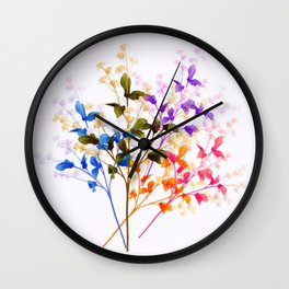 Itty Bitty Flowers Wall Clock