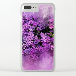 Lilac Lavender Flowers Clear iPhone Case