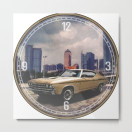 1969 Yenko Chevelle Decorative Wall Clock Metal Print