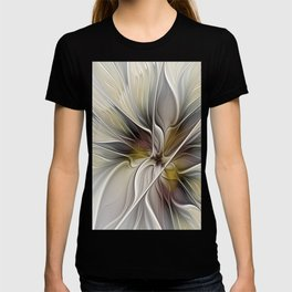 Floral Abstract, Fractal Art T-shirt