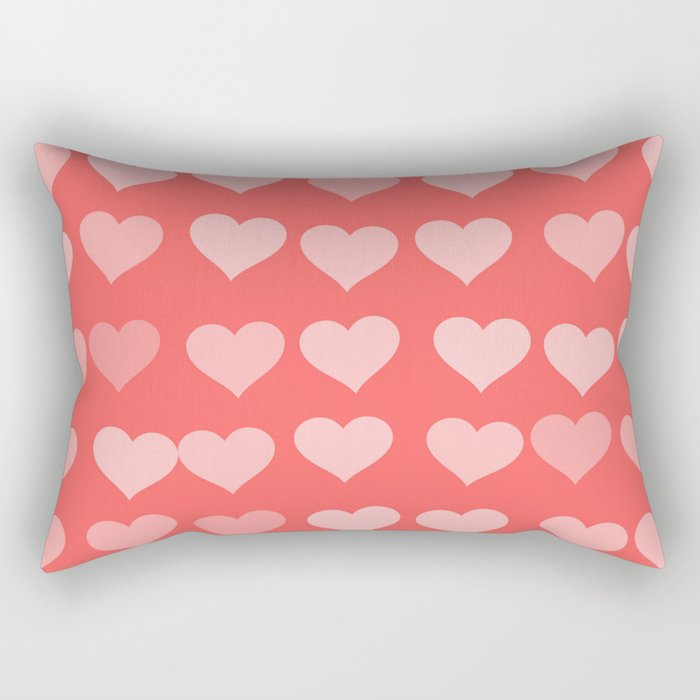 Cute Hearts Rectangular Pillow