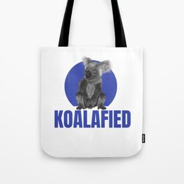 Highly Koalafied Carpenter product Funny print Tote Bag