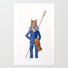Lynx Warrior Art Print