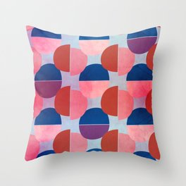 Geometric Abstract Half Round Pattern Throw Pillow