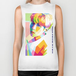 Kim Jong Hyun In Pop Art Biker Tank