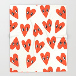 Happy Hearts Throw Blanket