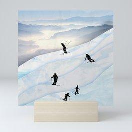 Skiing in Infinity Mini Art Print