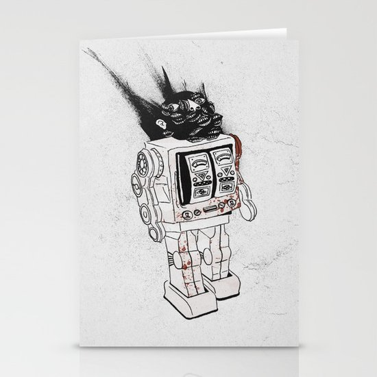 robot army Stationery Cards