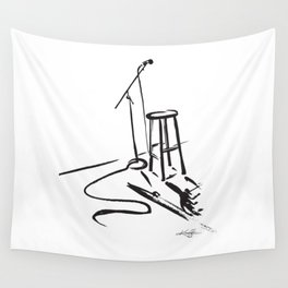 Open Mic by Kathy Morton Stanion Wall Tapestry